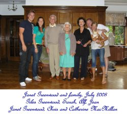 Janet Townend and family, 2008