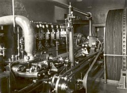 Steam Engine at Shaw Lodge Mills, Halifax, 1920