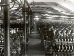 Spinning, Shaw Lodge Mills, Halifax, 1920