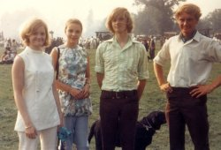 David Michael and Ingrid Holdsworth, Dominique Blanchard at Harewood Traction Engine Rally, 1970