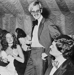 David Holdsworth at the White Rose Ball 1978