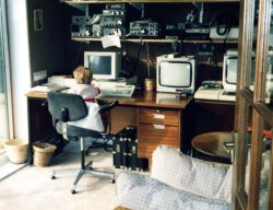 James Holdsworth, in Dad's study, 1987