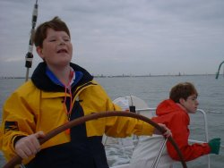 Easter, Sailing the Benetau 'Monet' on the Solent, April 2001