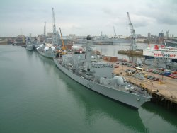 Naval ships in Portsmouth, 12 July 2002
