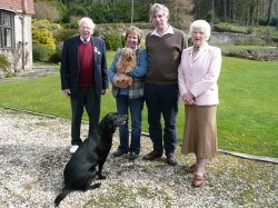 Peter, Judith, John and Elspeth Robertson, Largs, Scotland2008