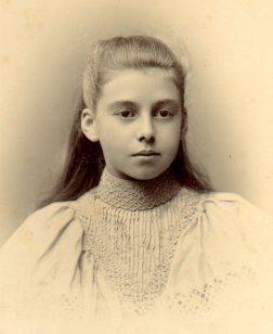 unknown girl, ca 1892