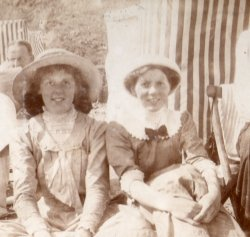 The sisters Highley, at Filey 1910