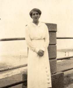 Kathleen Marian Walker at Sandsend, August 1915