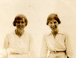 Mabel and Doris Highley Sandsend, August 1915