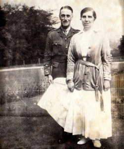 Hugh Reginald Holdsworth & Constance Gertrude Holdsworth at Netherside Hall, June 10, 1916