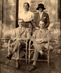 Constance Gertrude Holdsworth, Mabel Holdsworth, George Bertram Holdsworth, at Netherside Hall, September 1921