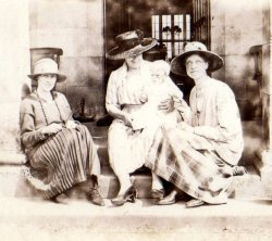Holdsworth family, Netherside Hall, Threshfield, September 1921