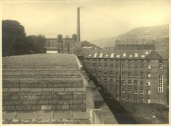 View from Weaving Shed at Shaw Lodge Mills, Halifax, 1933