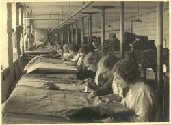 Mending at Shaw Lodge Mills, Halifax, 1933