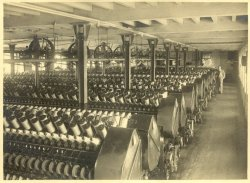 Spinning Frames at Shaw Lodge Mills, Halifax, 1933