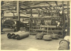 Warp Dressing at Shaw Lodge Mills, Halifax, 1933