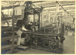 Weaver at his Loom at Shaw Lodge Mills, Halifax, 1933