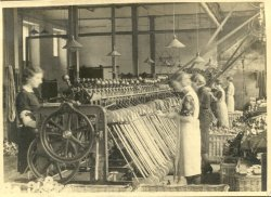 Winding Bobbins of Wool at Shaw Lodge Mills, Halifax, 1933