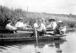 On rowing boat 1910