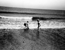 Michael and Ingrid Holdsworth at Sandsend, ca 1953