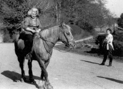 Nanny on 'Sugarstick' with Anne Holdsworth at Bellinter Park, Navan