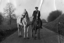 Billy Mawson on 'Ginger' with Princess Mary's Horse 'Compton', 1933