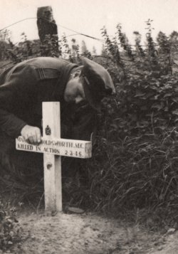 John Holdsworth's first grave in Germany 1946
