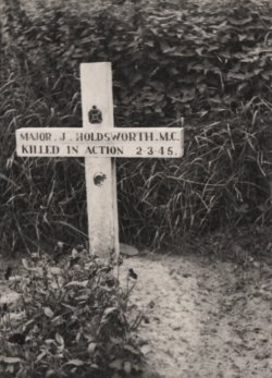 John Holdsworth MC's first grave in Germany 1946