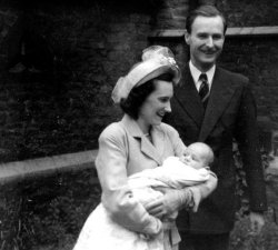 Guy Mansfield's Christening, Janet, Guy Rhys John & Terence Mansfield 1949