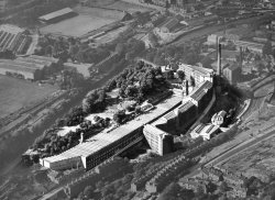 Aerial Photograph of John Holdsworth & Co Ltd, Shaw Lodge Mills, Halifax, 1956