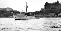 Gwynreta at Scarborough, August Bank Holiday 1955