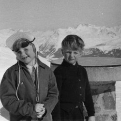 at the Hörnli Hut, Arosa 1956