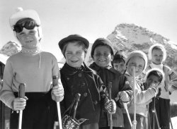 The Children's Ski School, Arosa, 1956