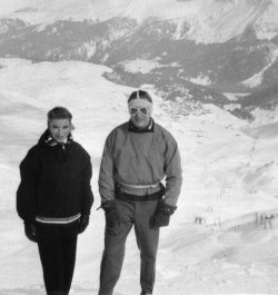 Pat & Malcolm, Arosa, Switzerland, 1956