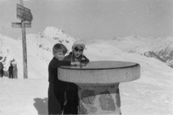 at the Hörnli, Arosa, 1956