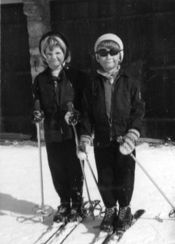 In Arosa, Switzerland, 1956