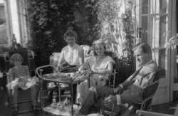 Bromhoffs In the conservatory at Scargill House, Kettlewell 1956