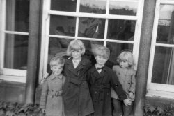 Holdsworth Children at Scargill, 1956
