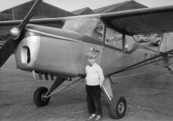 with Auster At Yeadon, 1956