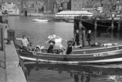 Fishing from Whitby, 1956
