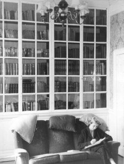 Didy Holdsworth, in the library at Bellinter Park 1959