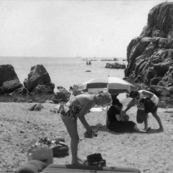below San Roc, Calella , Costa Brava, Spain, 1959