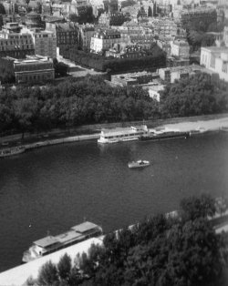 The River Seine from the Eiffel Tower, Paris, 1959