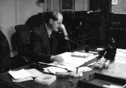 Bill Holdsworth, In His Office, 1959