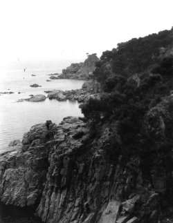 Below the Hostel San Roc at Calella, Costa Brava, Spain, 1959