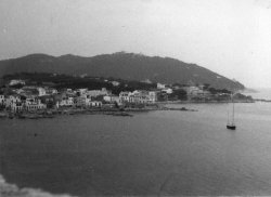 The bay at Calella, Costa Brava, Spain, 1959