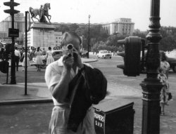 Bill Holdsworth, taking cine photos in Paris, 1959