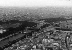 View of Paris, France taken from the Eiffel Tower, 1959