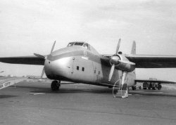 Silver City's Bristol Freighter which took the Bentley back, 1959
