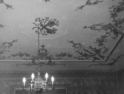 Ballroom ceiling at Bellinter, 1960